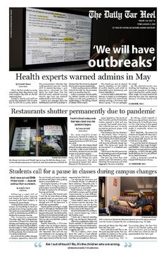 Records from before reopening show experts warned UNC of COVID-19 outbreaks - The Daily Tar Heel