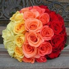 Ombre rose bouquet.  I see so many bouquets, but this one is stunning!!!!