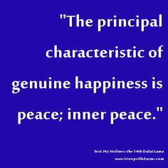 inner peace is the key to happiness