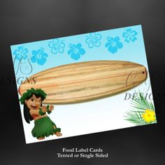 Disney's Lilo and Stitch Birthday Party Food Card Labels