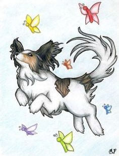 flying papillons by on DeviantArt Papillion Dog, Fly Drawing, Animals And Pets, Cute Animals, Puppies And Kitties, Doggies, Pet Vet, Animal Drawings, Dog Drawings