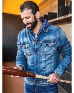 Introducing the Joey Series jeans. a collaboration with Silver Jeans Co. and Jose Bautista Josh Donaldson, Toronto Blue Jays, Silver Jeans, Slim Jeans, Major League, Bearded Men, Gq, All Star, Baseball