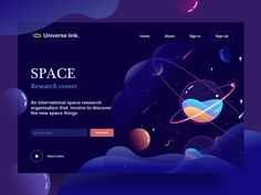 landing page | space center by Sudhan Gowtham #MobileWebDesign