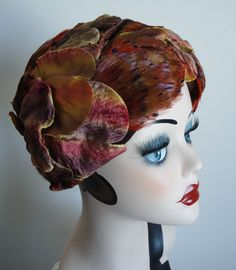 Vintage 1950s Simpson's Feather and Velvet Leaf by MadMakCloset, $65.00