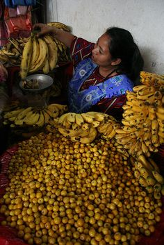 Nances & Bananos mercado en Guatemala