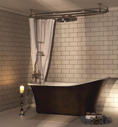 Montefresco Free Standing Bath and Effusio Over Bath Shower - The Albion Bath Company
