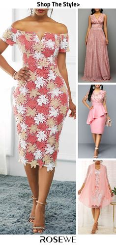 Hot Sale & Pink Prom Dress – Diet and Slimming African Lace Styles, African Lace Dresses, Latest African Fashion Dresses, African Dresses For Women, African Print Fashion, Women's Fashion Dresses, Pink Fashion, Mode Outfits, Dress Outfits