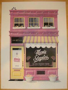 2012 Mavis Staples - Austin Silkscreen Concert Poster by DKNG