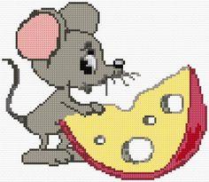 Cross Stitch Fruit, Cross Stitch For Kids, Cross Stitch Animals, Cross Stitch Designs, Cross Stitch Patterns, Cross Stitch Calculator, Especie Animal, Bear Crafts, Chart Design