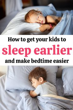 Switching to an earlier bedtime will not only have a positive impact on your kids, but will also make bedtime easier and more peaceful for the whole family. Here is how to get kids to sleep earlier and enjoy more peaceful evenings.  - Parenting tips Peaceful Parenting, Gentle Parenting, Parenting Hacks, Positive Parenting Solutions, Sleep Early, Kids Behavior, Parenting Toddlers, Kids Sleep, Raising Kids