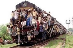 seems a lot of people in India are into taking the train.