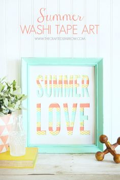DIY Summer Washi Tape Art -so cute!
