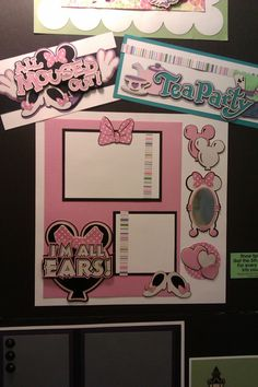Minnie Mouse page ideas