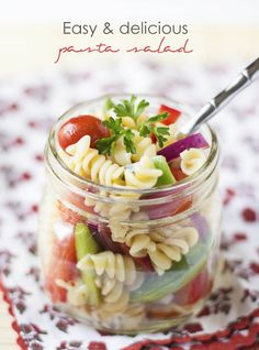 Easy & Delicious Pasta Salad in a Jar Recipe