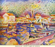 Georges Braque.L'Estaque. 1906. Oil on canvas. Private collection. Olga's Gallery.