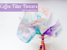 Fun, easy flowers made from things you have on hand. Great craft for kids.