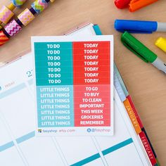 28 Aqua Theme Headers  // Erin Condren Life Planner Vertical by FasyShop on Etsy