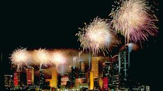 Fireworks in Houston, Texas.