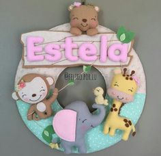 Felt Wreath, Felt Garland, Felt Crafts, Crafts To Make, Diy Crafts, Baby Mobile Felt, Felt Bookmark, Felt Banner, Felt Fairy