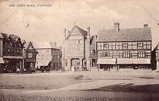 Postcard The Town Hall Wantage Oxfordshire Dated 1911 RPPC L