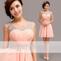 Pink Short Prom Dress/ Long Evening Gown / by angeldress2014, $119.00