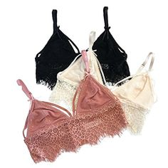 6a66a2fccd9 French Affair Amelie Women s Lace Bralette Top (LARGE