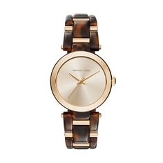 Gold Tone and Tort Acetate Delray Watch