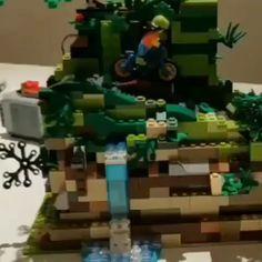- Mine Minecraft World Lego Technic, Vídeos Minecraft, Lego Videos, Lego Sculptures, Lego Pictures, Amazing Lego Creations, Lego Craft, Lego Mecha, All Lego