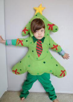 Christmas tree(green for boy) Christmas Tree Costume, Costume Ideas, Dinosaur Stuffed Animal, Halloween Costumes, Sewing, Boys, Green, Handmade, Animals