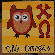 Chi Omega painting by JordanMckeever on Etsy, $20.00