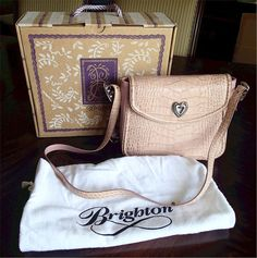 Lovely Brighton Eli Handbag Purse Box &  Sleeper Dusty Rose Pink $220 #Brighton #ShoulderBag