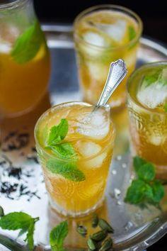 Moroccan Mojito cocktail recipe by The Bojon Gourmet Tea Cocktails, Cocktail Recipes, Cheers, Smothie, Fresco, Bojon Gourmet, Alcoholic Drinks, Beverages, Mojito Recipe