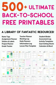 Best School Free Printables for Teachers and Students! back-to-school printables Best School Free Printables for Teachers and Students! back-to-school printables Teacher Planner Free, Student Planner Printable, School Planner, Teacher Binder, Student Binders, School Schedule, Math Teacher, Assignment Planner, Assignment Sheet