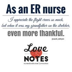 We ♥ ER nurses, and appreciate the love note sent via Twitter @airmethodscorp. We're thankful for all you do.