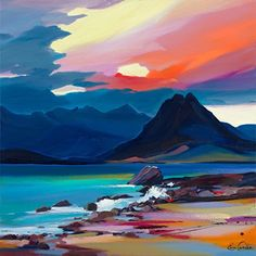 Mood of the Cuillin Pam Carter - Art Painting Watercolor Landscape, Abstract Landscape, Landscape Paintings, Watercolor Paintings, Abstract Art, Abstract Paintings, Art Paintings, Landscape Pics, Landscapes