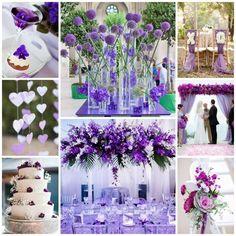 L'une des couleurs que l'on retrouver en 2016, c'est le violet et ses déclinaisons... Voilà une palette de couleurs très élégantes à utiliser pour mettre e