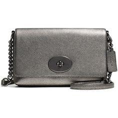 COACH Crosstown Metallic Pebbled Leather Crossbody Bag
