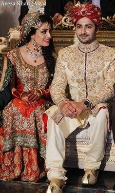 Ayeza Khan n Danish Taimoor Baraat Pics what a beauty yr Asian Wedding Dress, Asian Bridal, Pakistani Couture, Pakistani Wedding Dresses, Ayeza Khan Wedding, Pakistan Bride, Pakistan Wedding, Bridal Outfits, Woman Outfits