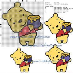 Winnie the Pooh cross stitch pattern