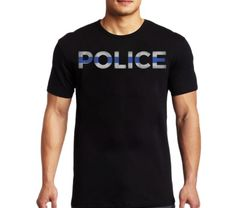 Elite Breed Police Crest Silver Foil Gildan T-Shirt PreShrunk Cotton 6 Sizes