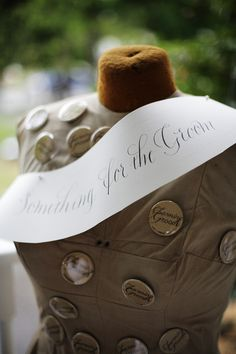 Buttons for the Charming Grooms at our Dazzling Details Wedding Bazaar.