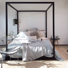 It seems I'm not the only one who can't get enough of the Cubic Four Poster Bed by @mrd_home. This beauty has been super popular in our online store this week www.simplestyleco.com.au