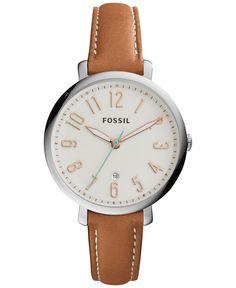 Fossil Women's Jacqueline Tan Leather Strap Watch 36mm ES3942