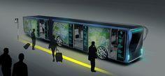 """宣伝効果抜群!透明な液晶画面に包まれたバス""""Willie Bus"""" 街の景観をグッと未来に近づける"""