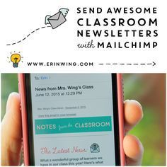 Looking for a way to make classroom newsletters faster to write and more accessible for parents? A free a email service, like MailChimp, might help! (Post includes a video tutorial and a free printable guide. Organization And Management, Teacher Organization, Classroom Management, Class Newsletter, Classroom Newsletter, Online Newsletter, Newsletter Templates, Teaching Technology, Educational Technology