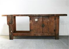 French Rustic Workbench; sideboard.  Haunt
