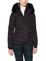 Bever Hooded Puffer Coat with Fur Trim