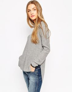 ASOS Ultimate Chunky Jumper With V-Neck And Side Splits