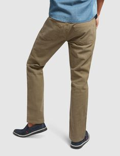 These slim fit chinos give you a smarter look for all occasions whether casual or formal. Our non-pleated pants feature 5 pockets, zip fly and a top button closure. These cotton chinos with keep you comfortable all year round. Mens Chino Pants, Denim Pants, Khaki Pants, Slim Fit Chinos, Pleated Pants, Denim Outfit, Wholesale Clothing, Sweatpants, Pockets