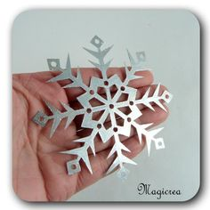 FLOCON DE NEIGE PVC 9 CMARGENTE - Boutique www.magicreation.fr